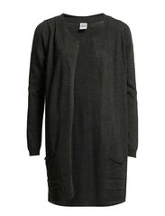 INDI LS LONG CARDIGAN - Dark Grey Melange