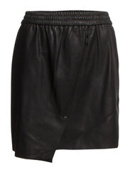 CASEY BUTTER NW SHORT PU SKIRT - Black