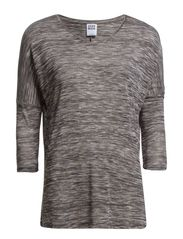 ANNA ASTI 3/4 TOP NOOS - Medium Grey Melange