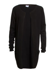 DANIA LS LONG POCKET CARDIGAN NOOS - Black