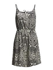 EASY SL SHORT TIE DRESS - White Asparagus