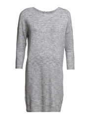 GLORY AURA 3/4 DRESS - Light Grey Melange