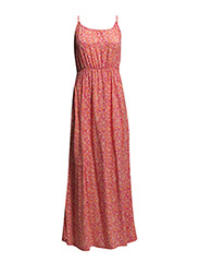 EASY SL MAXI TIE DRESS - Raspberry Rose