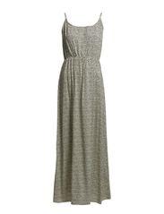 EASY SL MAXI TIE DRESS - White Asparagus