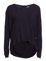 GLORY AURA LS ZIPPER BLOUSE - Black Iris
