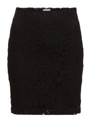 DAISY DRIVE SHORT LACE SKIRT IT - Black
