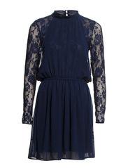 VICKIE LS SHORT DRESS BP - Black Iris