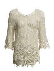 SIGNE CROCHET 3/4 TOP NFS - Snow White