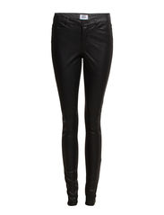 WONDER NW SKINNY PU MIX JEGGINGS - Black