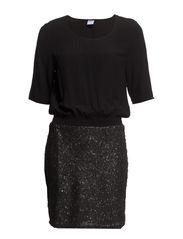 AURELIA 2/4 SHORT DRESS - Black