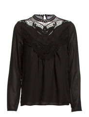 LILJA LACE L/S TOP GA IT - Black