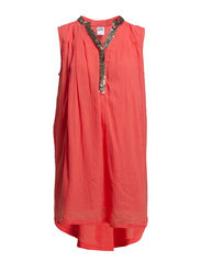 VENKE S/L SHORT DRESS - NFS - Spiced Coral