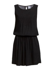 EMBROIDERY S/L DRESS - NFS - Black