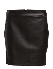 WP - HARLEM PU SHORT SKIRT 12 - Black