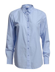 ANNE L/S SHIRT - NFS - Light Blue Denim