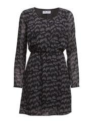 EVE MAS LS SHORT DRESS - Black
