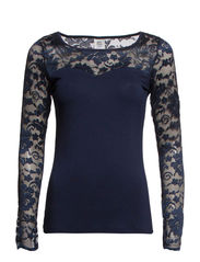 JUPITER L/S TOP BLUE - Black Iris
