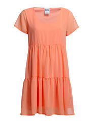 SHELLY S/S DRESS FF13 - PEACH PINK