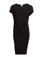VMHAILEY S/S KNEE DRESS NFS - Black