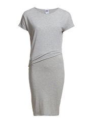 VMHAILEY S/S KNEE DRESS NFS - Light Grey Melange