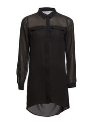 WP - VMMESH PANEL LS LONG SHIRT 14 - Black