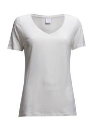 VMWHITE V-NECK S/S TOP GA IT - Snow White