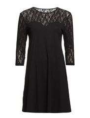 VMSUZIE SWING 3/4 LACE DRESS  NFS- AS - Black
