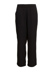 JUST NW WIDE POLY PANTS - Black