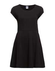NEW LULLO SS SHORT DRESS - Black