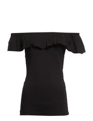 VMLALA DROP SHOULDER TOP NFS - Black