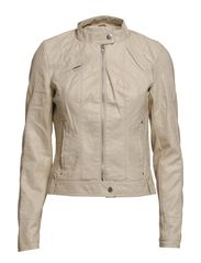 DAWN SHORT PU JACKET ALAOS OATMEAL - Oatmeal