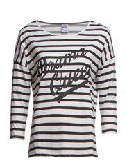 VMQUEEN STRIPE 3/4 TOP NFS - Black