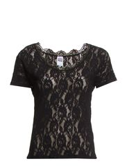 VMSUZI S/S LACE TOP NFS - Black