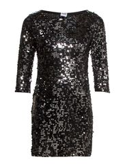 VMDOUBLE COLORED SEQUINS DRESS NFS - Black