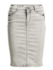 VMWONDER HW AB. KNEE LINE PENCIL SKIRT - Light Grey Denim