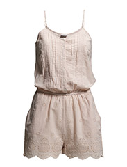 VMANNIE STRAP PLAYSUIT - Peach Whip