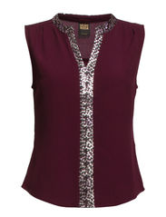 VMLINN SEQUINS SL V-NECK TOP NFS - Winetasting