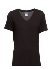 VMPLAIN PARIS V-NECK S/S TEE FF32 - Black