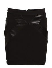 VMCOOL PU SHORT SKIRT NFS - Black