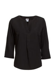 VMNATHALIE V-NECK 3/4 TOP - NFS - Black