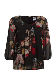VMWINTER BLOOM SALIN 3/4 TOP - NFS - Black