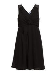 VMMILLE S/L V-NECK SHORT DRESS - NFS - Black
