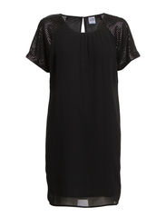 VMRAYNA SEQ S/S DRESS - NFS - Black