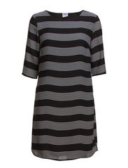VMSTRIPE DRESS FF38 - Black