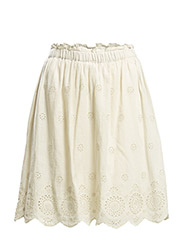 VMANNIE HW SHORT SKIRT WITH POL. LINING - Oatmeal