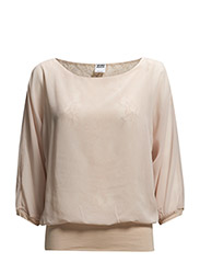 VMALICE 3/4 LACE TOP - Peach Whip