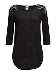 WP - VMSTEPH LACE 3/4 TOP 4 - Black