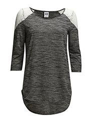 WP - VMSTEPH LACE 3/4 TOP 4 - Medium Grey Melange