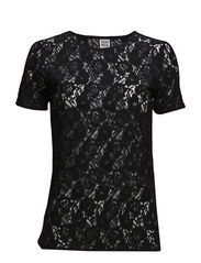 WP - VMLILLY LACE SS TOP 3 - Black