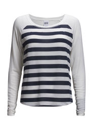 WP - VMDONNA STRIPE LS TOP - Snow White